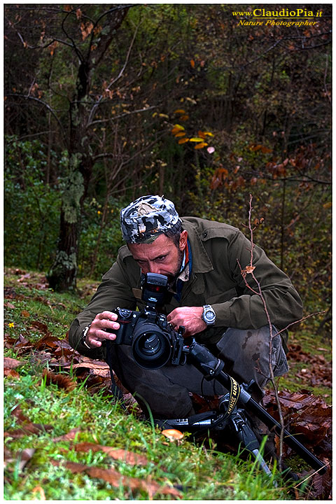 claudio pia nature photographer backstage funghi Val d'Aveto